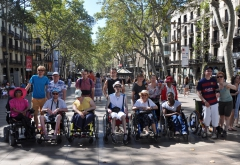 Photo de groupe aux Ramblas