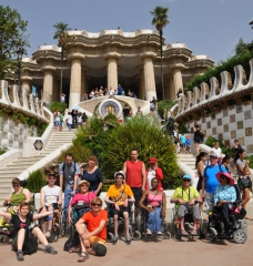 Photo de groupe parc Güell